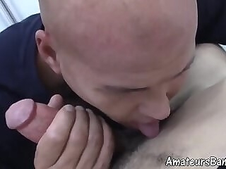 Reality amateur video of bald mature dude banging young gay