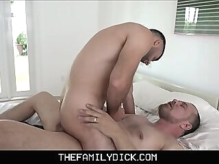 Bear Step Dad Family Sex With Step Son After Fucking His Mom With Viagra stepdad stepson dad and son