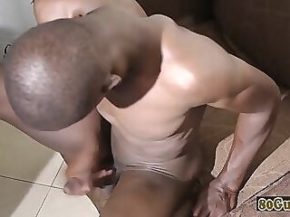 Deepthroated african amateur gets barebacked gay