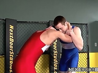 Tyler Torro and Rick McCoy wrestle and bareback fuck gay hardcore big dick