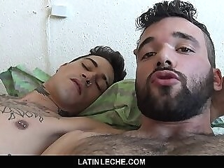 LatinLeche - Hot Latino Hunk Gets His Tight Hole Double Penetrated gay