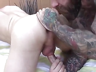 horny daddy bareback (gay) big cock (gay) interracial (gay)