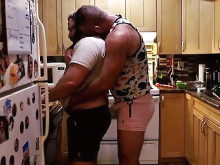 Daddy Bears Fucking in the Kitchen bareback bear blowjob
