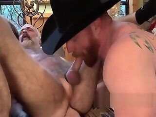 Ginger daady and silver daddy fuck very hot muscle