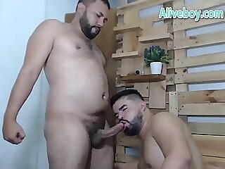 fat gay couple have hard anal fucking on webcam gay sex doggystyle couple gay