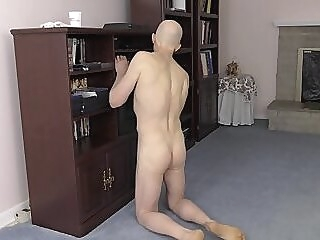 Cute Gay Nudist Cleans House amateur twink shaved naked small cock horny exhibitionist submissive smooth nudist gay