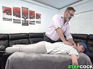 Bear Stepdad Massages And Fucks His Stepson gay