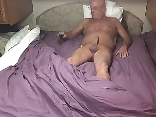 Grandpa Masturbating again while out of town vintage gay