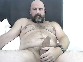 Hairy hung bear shoots his load bear (gay) big cock (gay) daddy (gay)