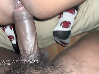 Thick Fat Booty Bottom Fucked by DL BBC black bareback bear