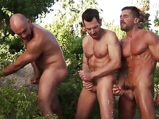 David Anthony, Bryan Slater and Gio Forte (SW P3) daddy group sex muscle