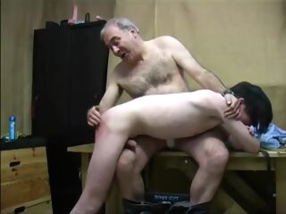 twink punished and fucked by two old men gay bareback gay bdsm gay old young